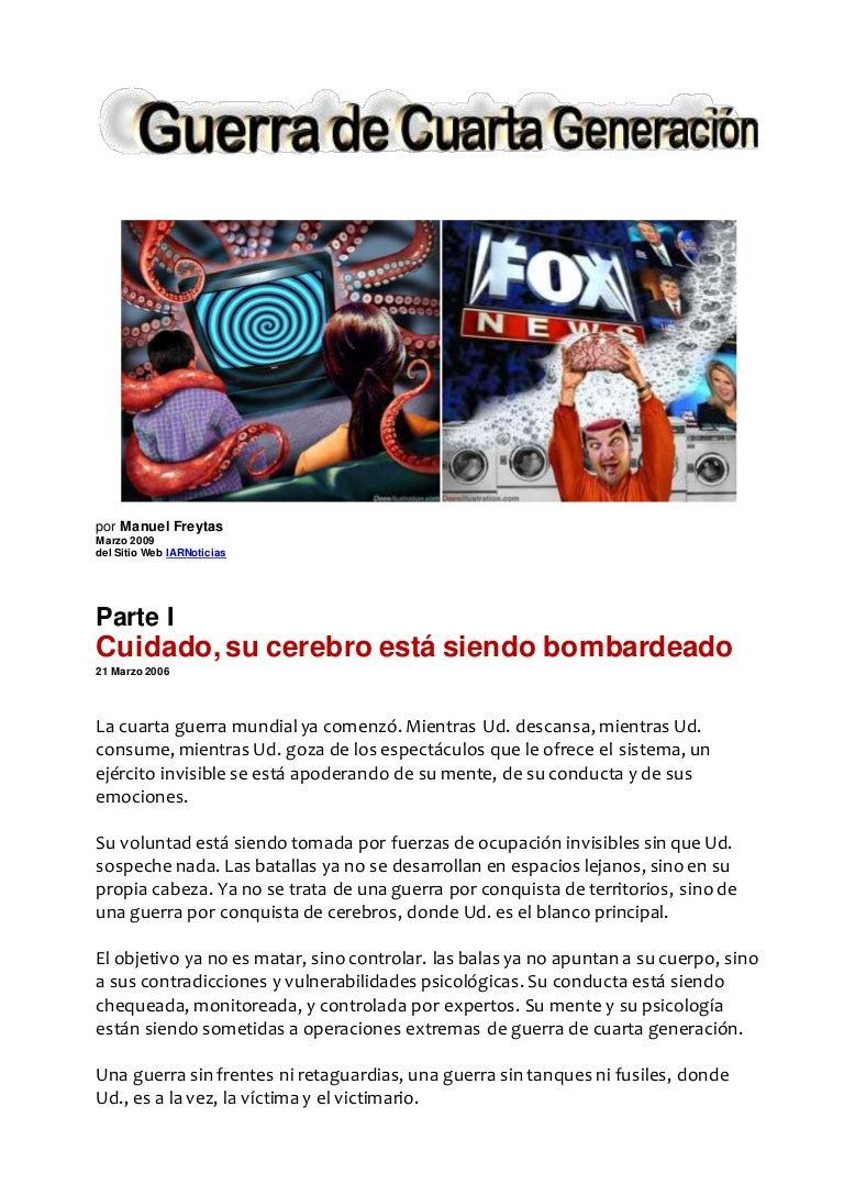 Guerra de cuarta generacion - Manuel Freytas
