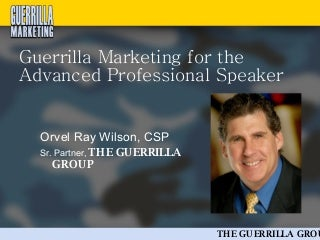 What part of guerrilla warfare did guerrilla marketing stem from?