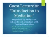 Guest lecture on Introduction of Mediation