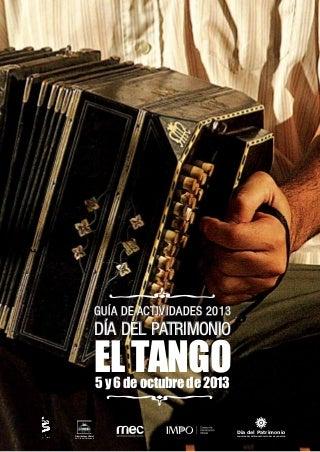 EL TANGO, patrimonio cultural - Guía actividades 2013
