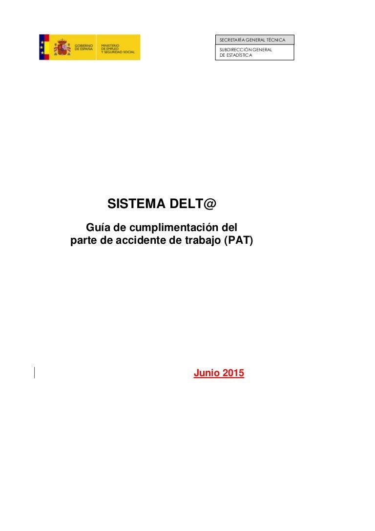 18 junio 2015 Jornada Técnica. Seminario PAT. Sistema Delta. Guía Met…