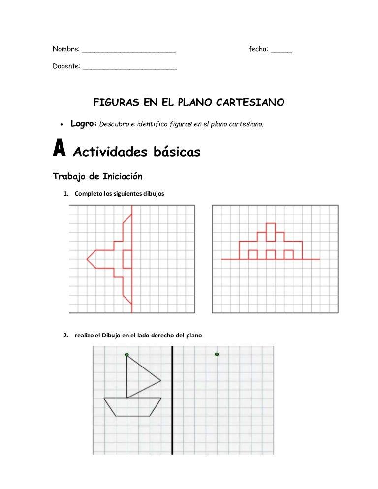 Guia 8 de figuras plano cartesiano