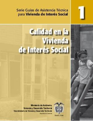 Calidad en la Vivienda de Interés Social