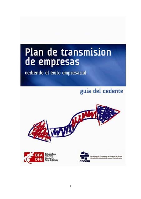 Plan de transmisión de empresas - Guia del cedente