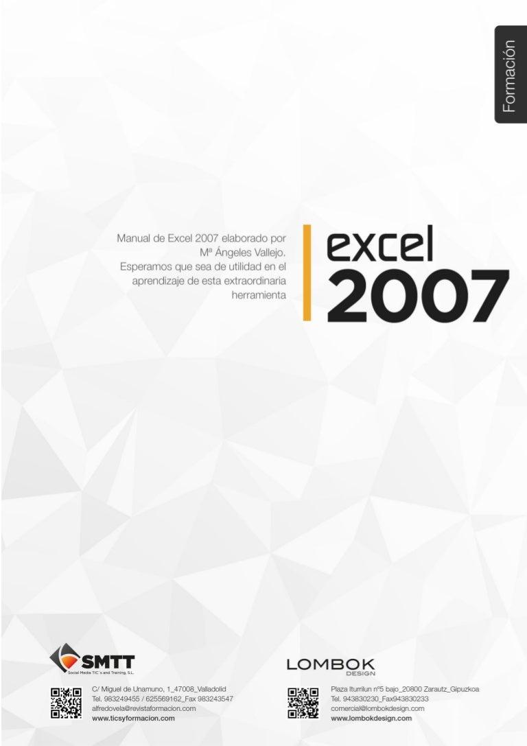 Guía de aprendizaje de Excel 2007