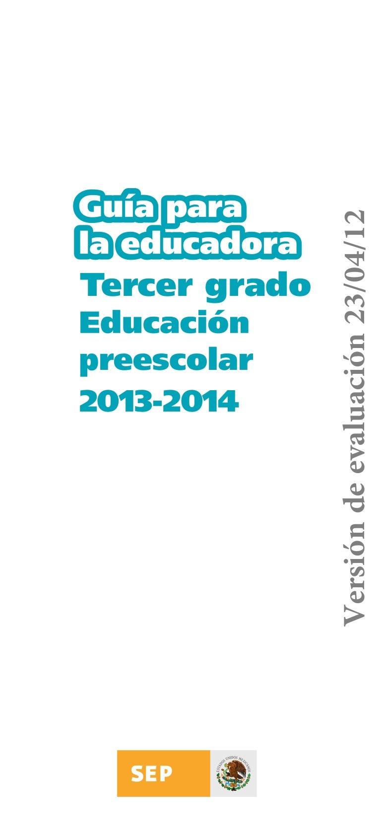 Guiaparalaeducadoratercergrado 2013-2014-130317214422-phpapp01