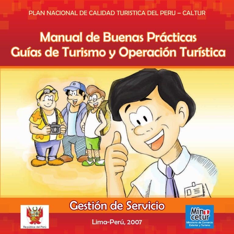 Manual De Buenas Practicas Gu As De Turismo Y Operaci N
