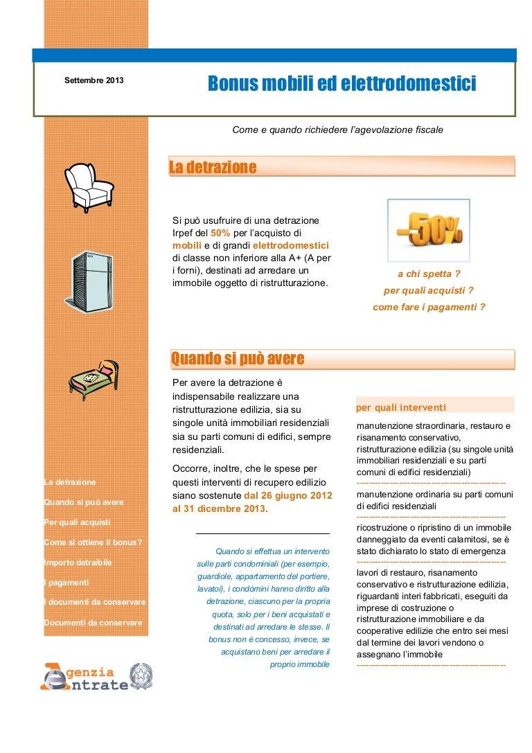 Comunicazione Asl Detrazione 50 Modulo bonus mobili ed elettrodomestici 2013 - la guida