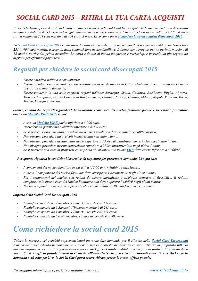 Guida per-ottenere-social-card-disoccupati