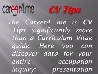 Guidance for Build a Fabulous CV