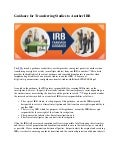 Guidance For Transferring Studies to Another IRB