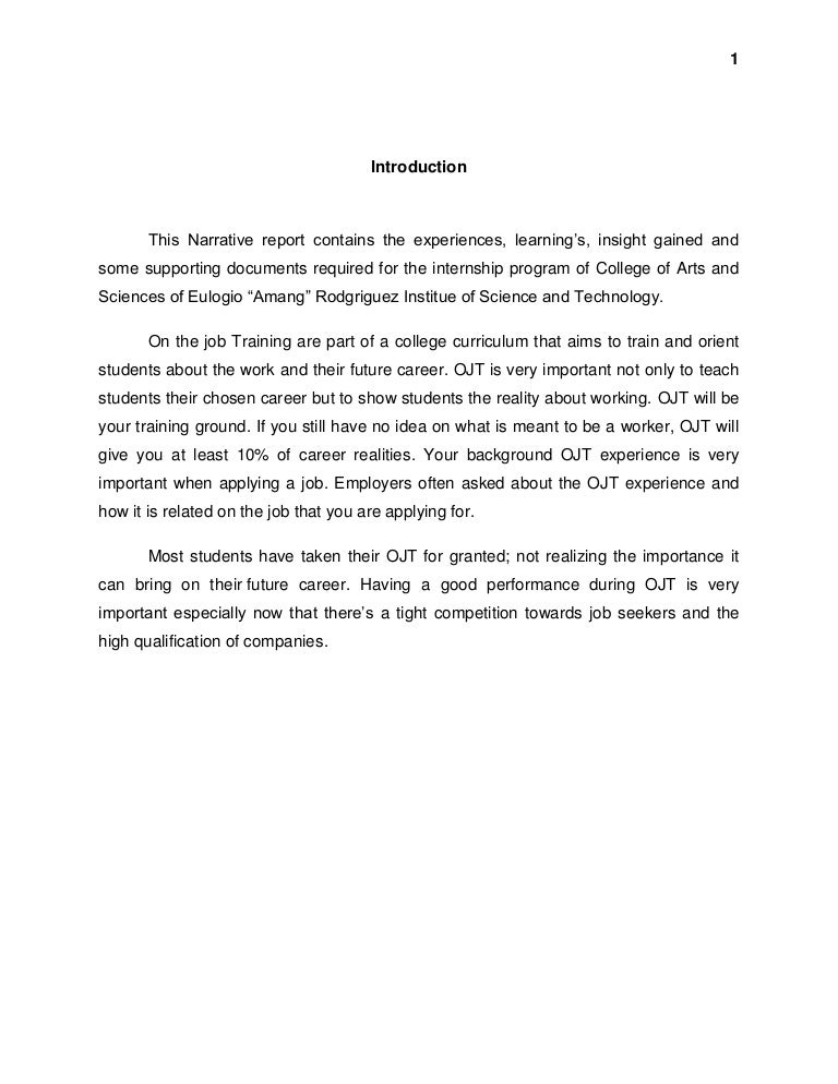 narrative report introduction This narrative report talks about the israel's diplomatic policy is an example of an introduction in a narrative report.