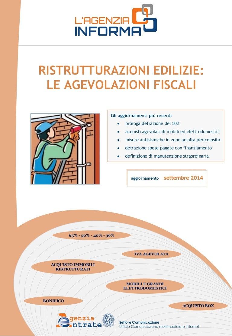 Comunicazione Asl Detrazione 50 Modulo guida ristrutturazioni edilizie - bonus 50% - settembre 2014