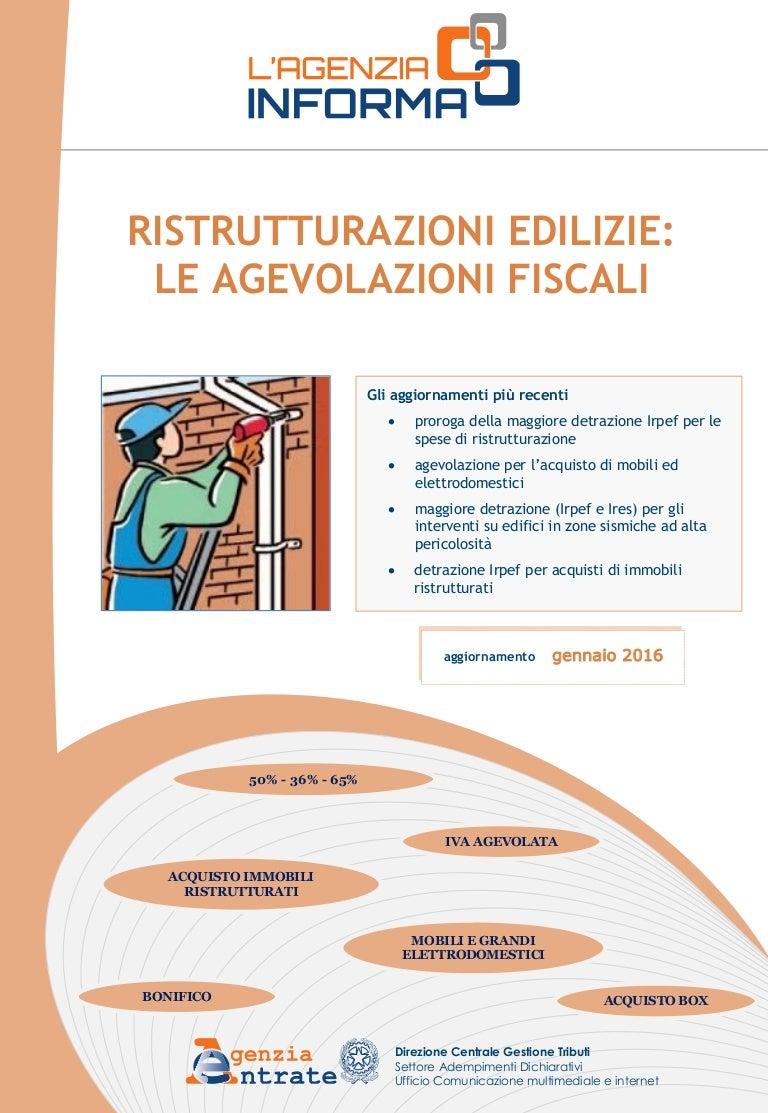 Detrazione Tinteggiatura Interna 2016 agenzia delle entrate, guida 2016 ristrutturazioni edilizie