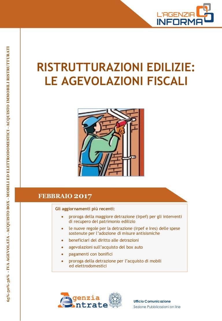 Guida ristrutturazioni edilizie 2017 for Bonus arredi agenzia entrate