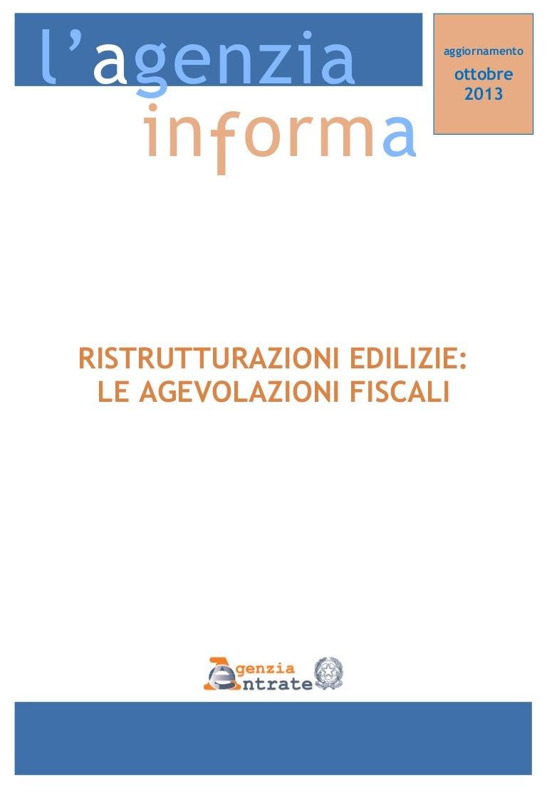 Agevolazioni fiscali per le ristrutturazioni edilizie 2013 - LA GUIDA