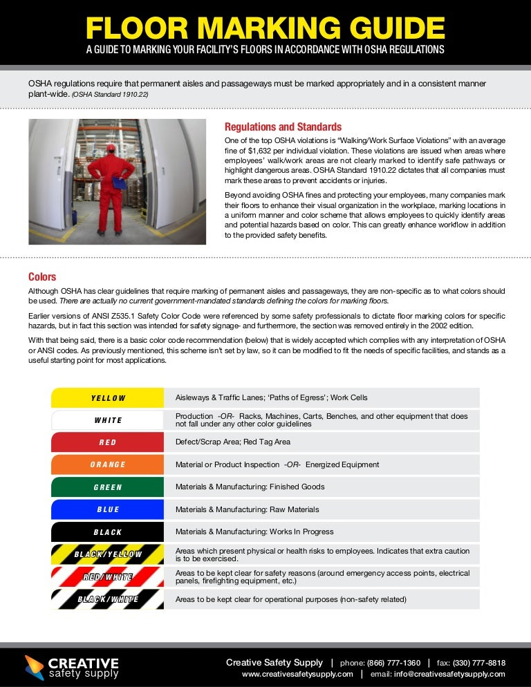Floor Tape And Marking Guide To Osha Compliance