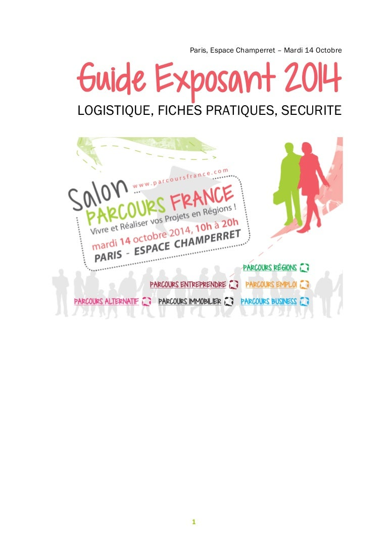 Guide Exposants 2014 Salon Parcours France