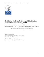 cdc guideline for disinfection and sterilization in healthcare facilities 2013