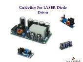 Guideline for laser diode driver