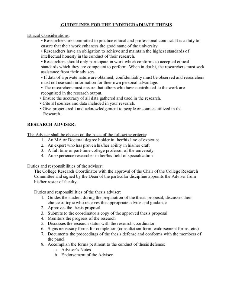 undergraduate thesis proposal format