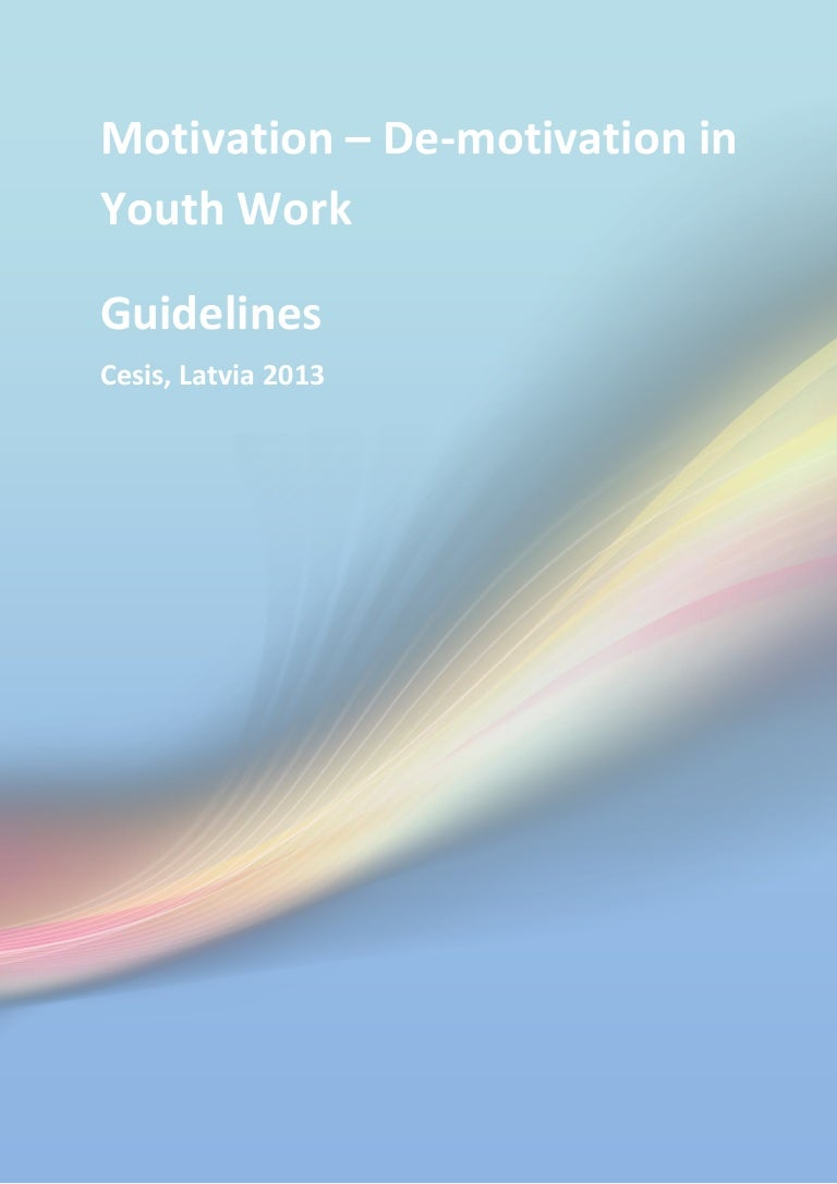 guidelines motivation de motivation in youth work