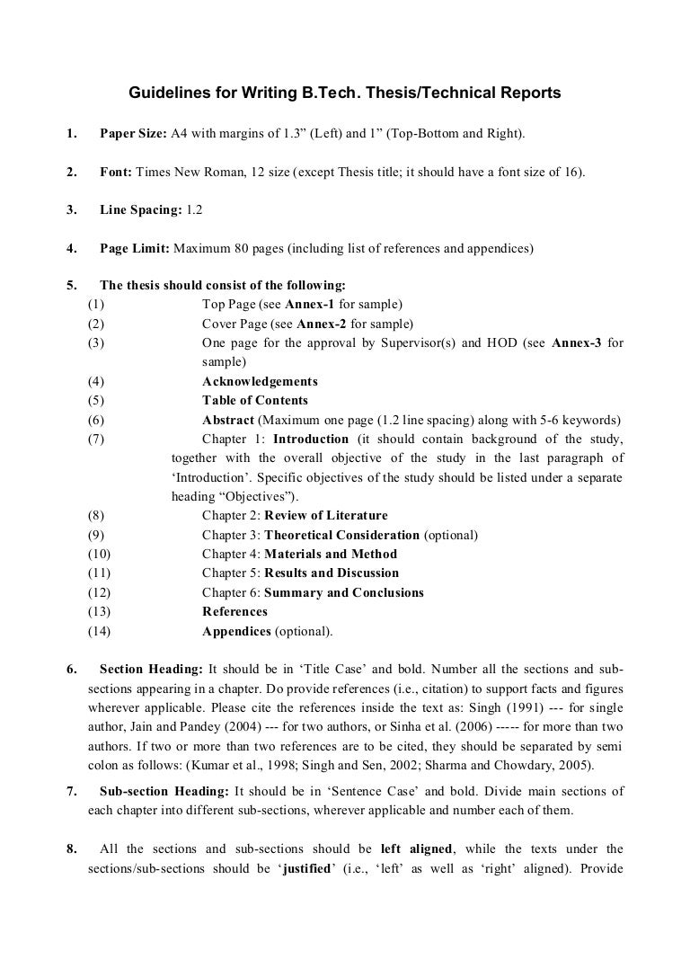 Guidelines for writing thesis technical reports 2 – 3 Line Writing Paper