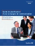 Guide de planification d'une campagne de communication