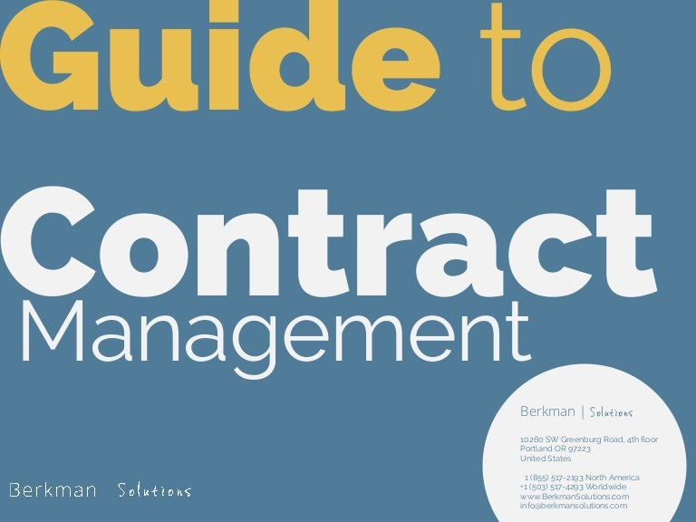 Guide to Contract Management