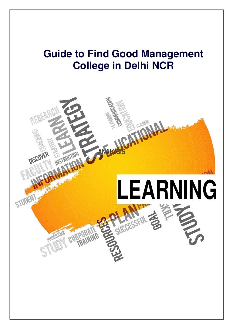 Guide To Find Good Management College In Delhi Ncr Pdf