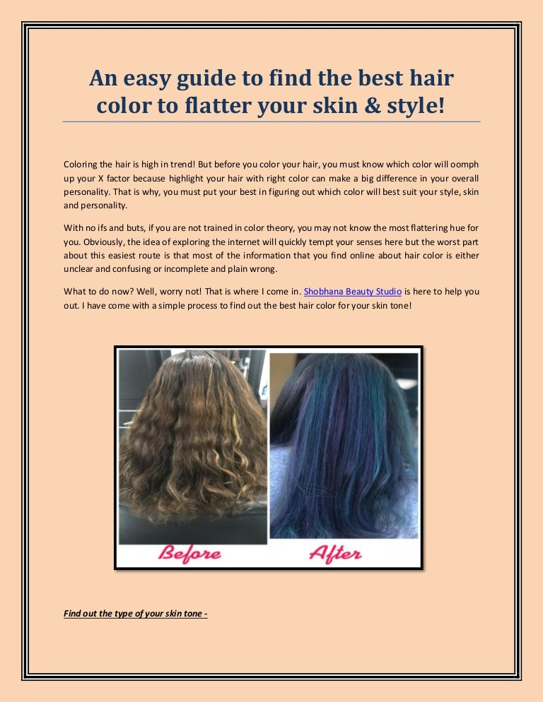 Guide To Finding The Best Hair Color For Your Hair Styling