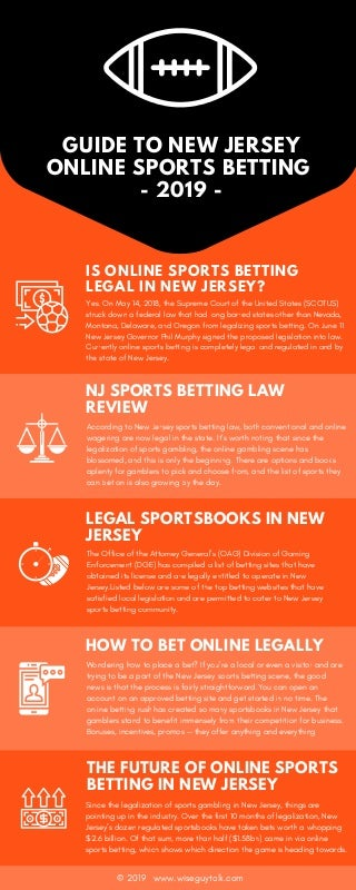 Guide to new jersey sports betting online 2019