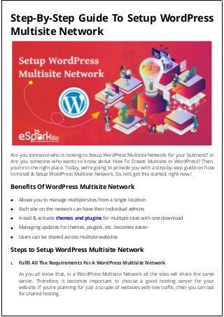 Setup WordPress Multisite Network