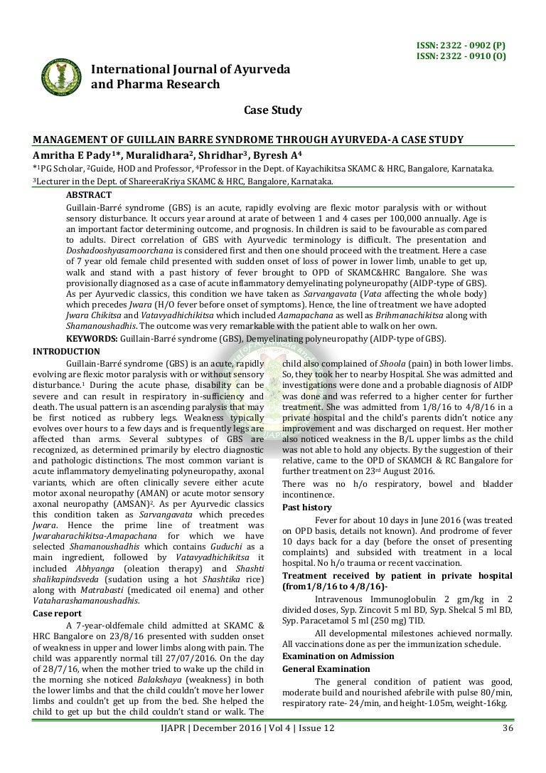 guillain-barré syndrome case study evolve