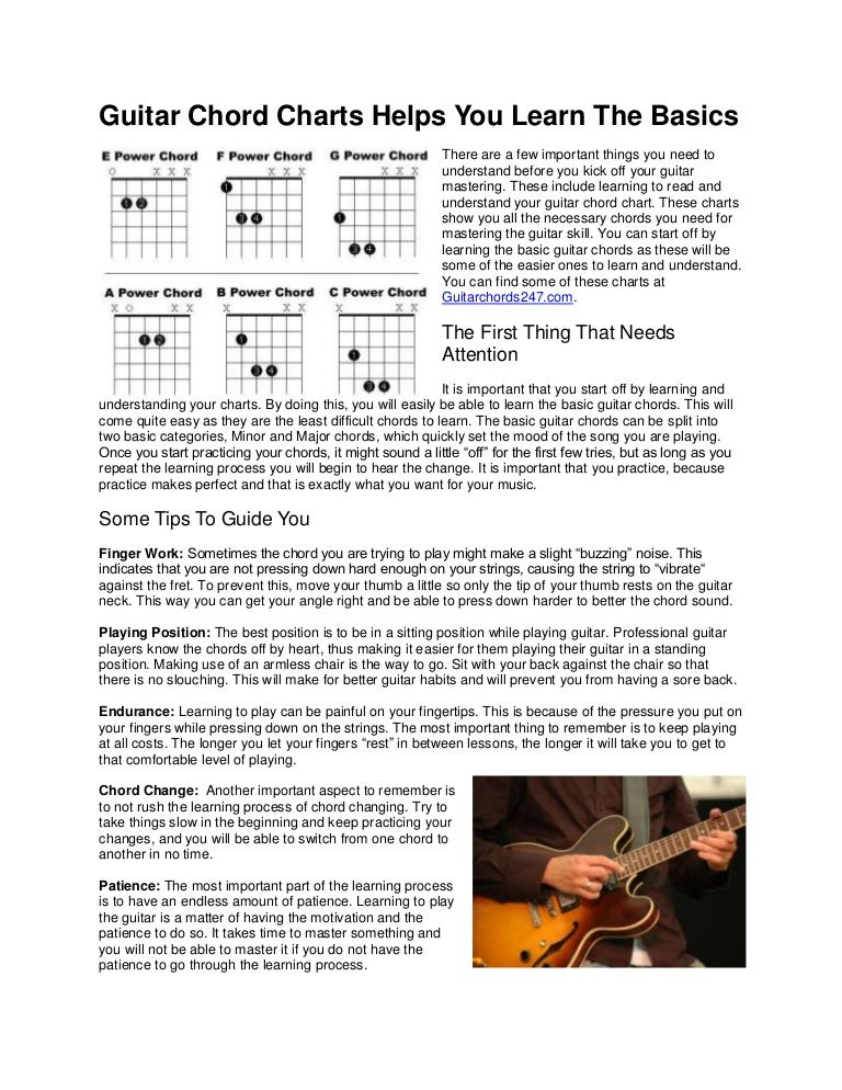 Guitar Chord Charts Helps You Learn The Basics