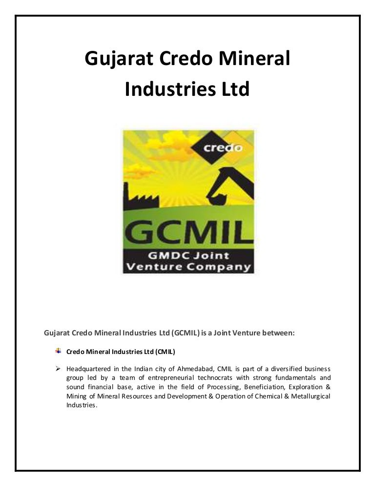 gujarat credo mineral industries ltd
