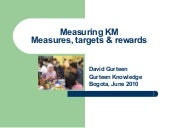 Measuring KM: Measures, Targets and Rewards