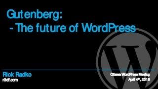 Gutenberg - The future of WordPress