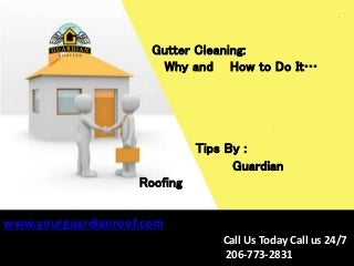 Gutter Cleaning: Why and How to Do It - Guardian Roofing