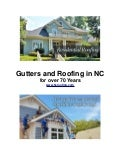 Gutters and Roofing in NC for over 70 Years
