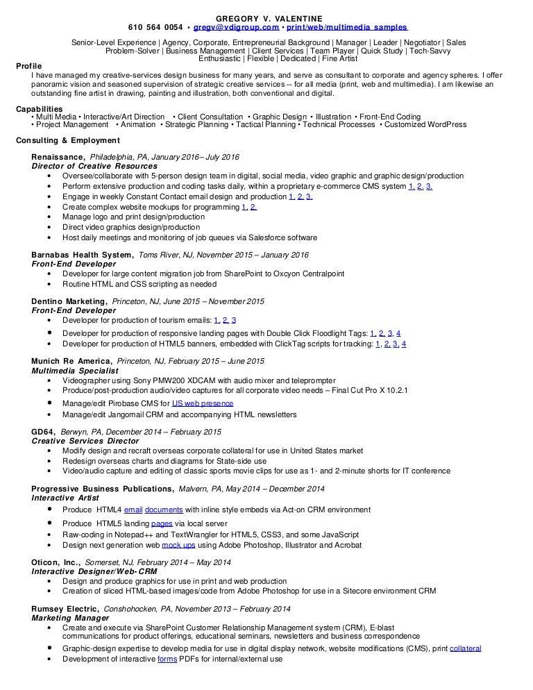 Senior Digital Resume