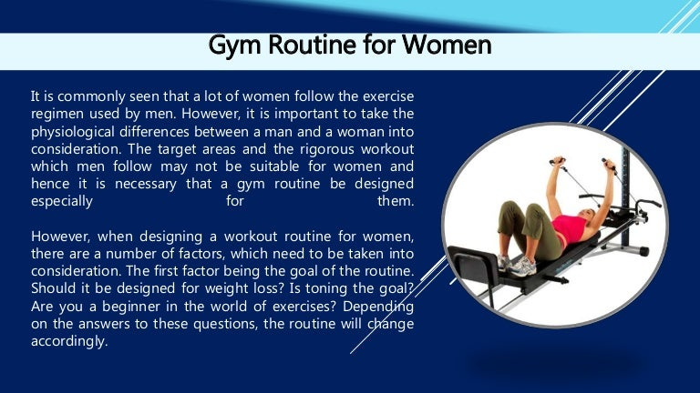 Gym Routine for Women