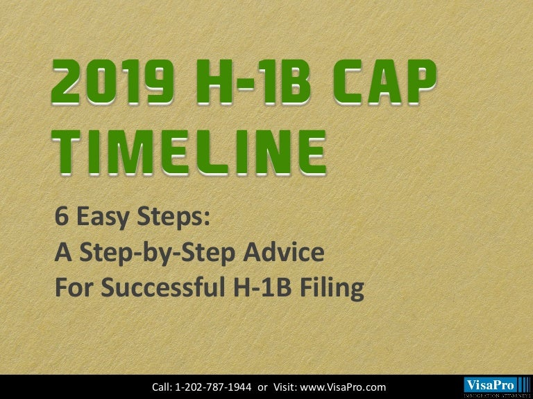 6 Easy Steps For Successful H1 Visa 2019 Filing