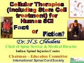 Cellular Therapies (Including Stem Cell  treatment) for  Human SCI