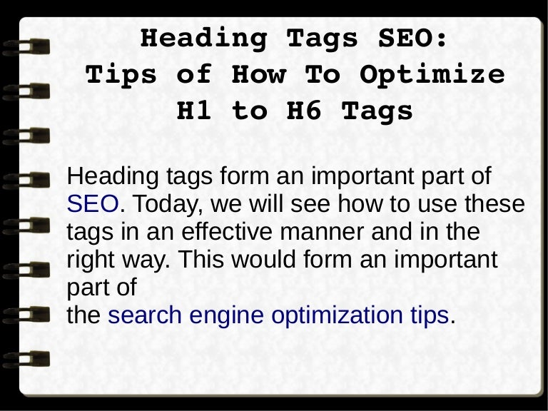 Heading Tags SEO :Tips of How To Optimize H1 to H6 Tags