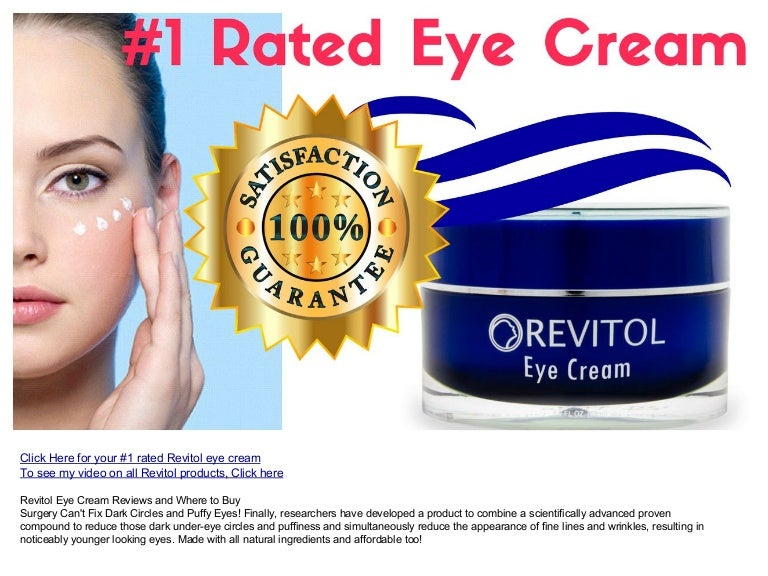 Revitol Eye Cream Reviews And Where To Buy