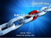 The History of HACCP