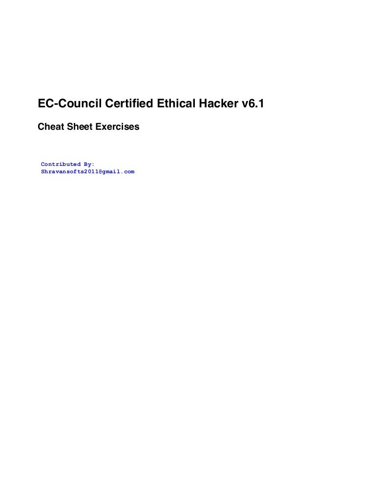 Hacking CEH cheat sheet