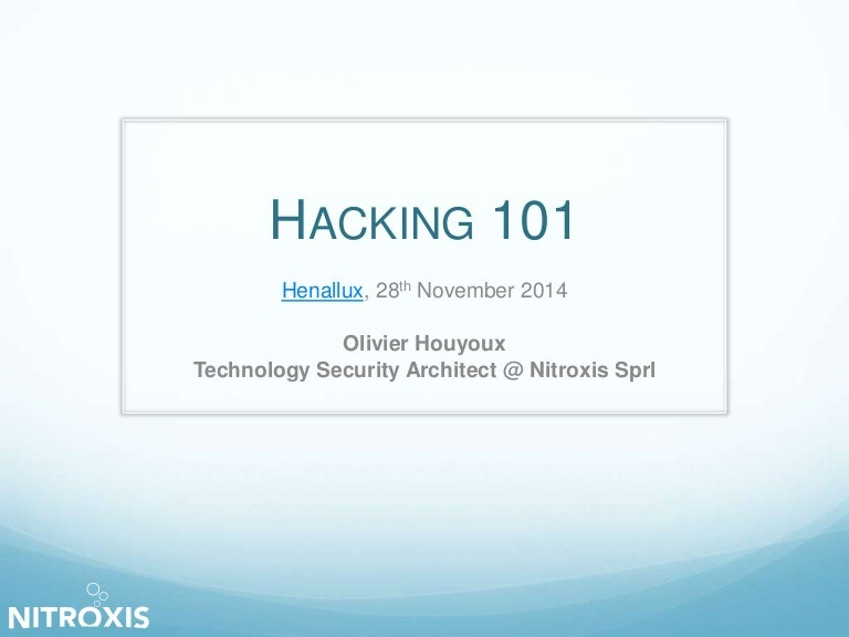 Hacking 101 (Session 2)