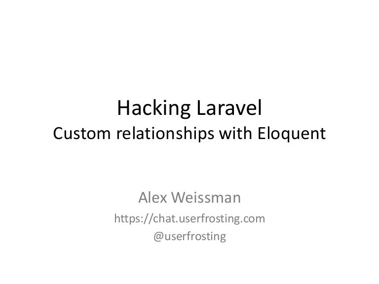 Hacking Laravel - Custom Relationships with Eloquent